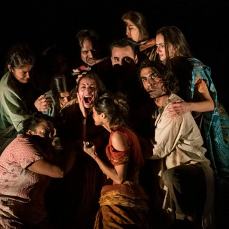 THE VILLAGE by Angelis, , Writer - April De Angelis, Director - Nadia Fall, Designer - Joanna Scotcher, Lighting - Paul Pyant, Movement - Polly Bennet, Stratford East, London, 09/2018/ Credit: Johan Persson/